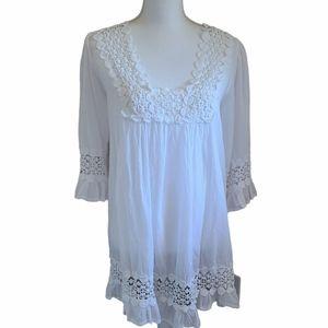 cute options 100% cotton white swim coverup tunic